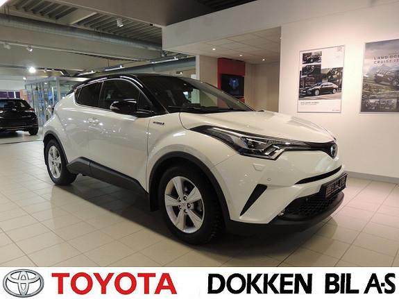 Toyota C-HR 1,8i Hybrid Lounge Tech Bi -Tone  2018, 28484 km, kr 289000,-