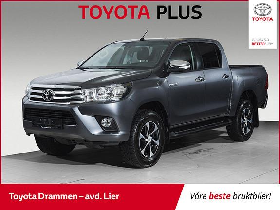 Toyota HiLux D-4D 150hk D-Cab 4WD SR+ aut Automat, firehjulsdrift  2018, 15200 km, kr 429000,-