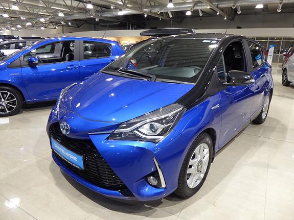 Toyota Yaris 1,5 Hybrid Bi Tone Blue e-CVT aut m/DAB+ og Navi  2018, 6300 km, kr 259000,-