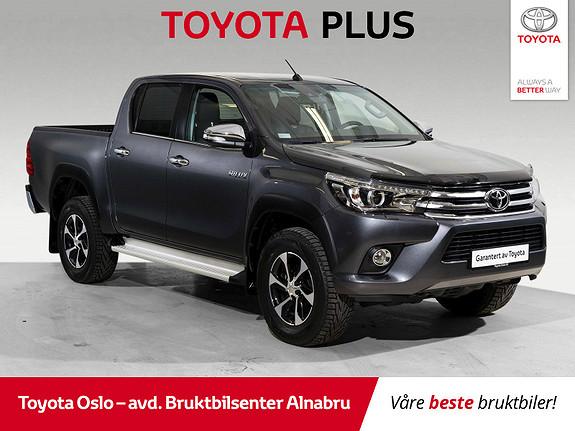Toyota HiLux D-4D 150hk D-Cab 4WD SR+ aut Toppmodell  2018, 5901 km, kr 434900,-