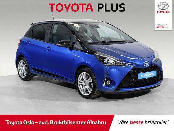 Toyota Yaris 1,5 Hybrid Bi Tone Blue e-CVT aut SE KM!  2018, 2921 km, kr 234900,-