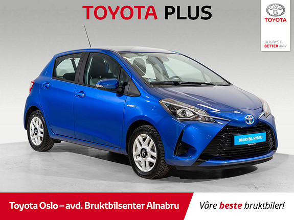Toyota Yaris 1,5 Hybrid Active Go e-CVT aut DAB+, Automatgir,  2018, 9281 km, kr 214900,-