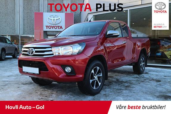 Toyota HiLux D-4D 150hk X-Cab 4WD SR H.feste  - Vortex - A/C - DAB+  2017, 33253 km, kr 339900,-