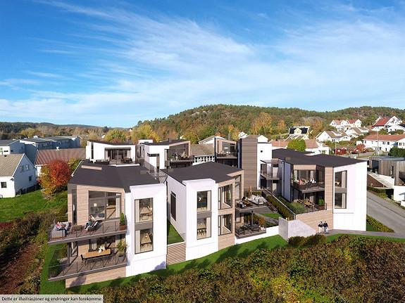 Fagertun Panorama - Salget er i gang! 21 sentrale og stilrene eierseksjoner. P-plass i kjeller inkludert i prisen.