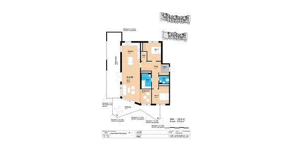 Plantegning som viser leilighet A4-06