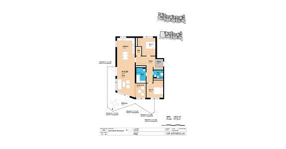 Plantegning som viser leilighet A5-05