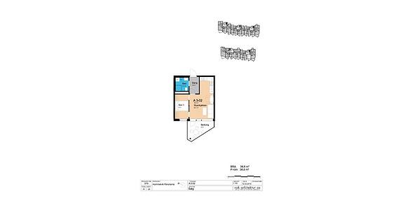 Plantegning som viser leilighet A3-02