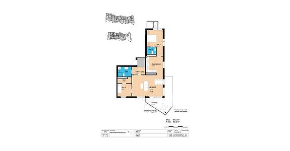 Plantegning som viser leilighet A5-01