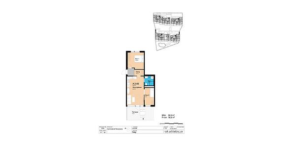Plantegning som viser leilighet A2-05