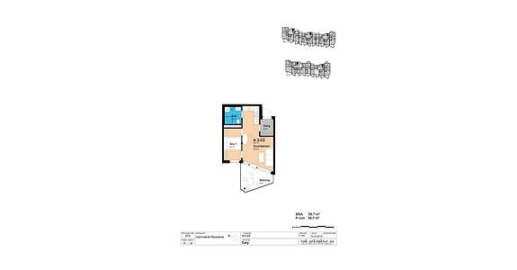 Plantegning som viser leilighet A3-03