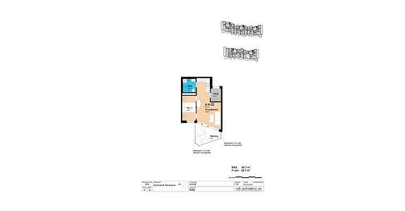 Plantegning som viser leilighet A4-02
