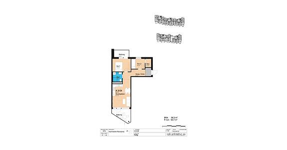 Plantegning som viser leilighet A3-04