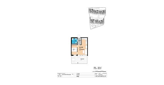 Plantegning som viser leilighet A2-06