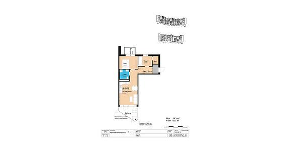 Plantegning som viser leilighet A4-03
