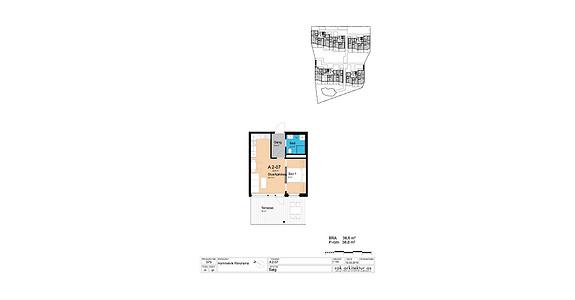 Plantegning som viser leilighet A2-07