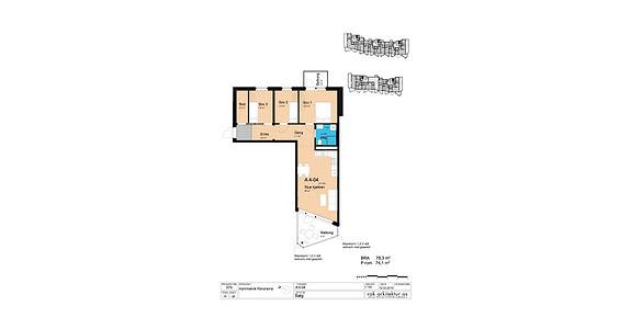Plantegning som viser leilighet A4-04