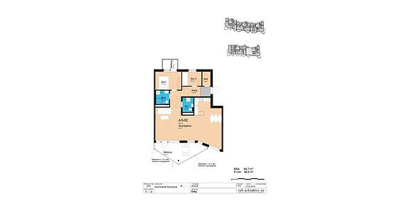Plantegning som viser leilighet A5-02