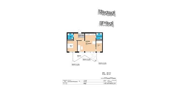 Plantegning som viser leilighet A4-05