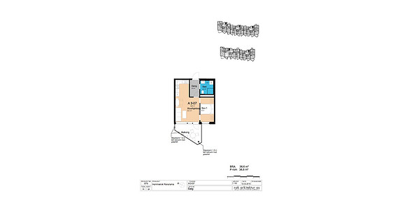 Plantegning som viser leilighet A3-07