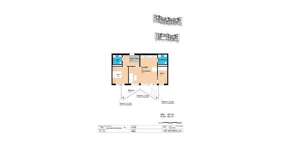 Plantegning som viser leilighet A5-04