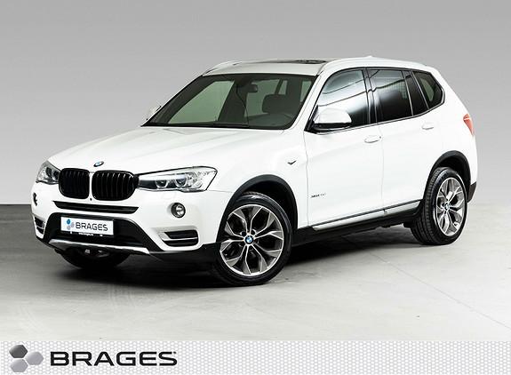 BMW X3 xDrive20d 163hk aut Skinn, Krok, Navi, Pano, Hifi, Webasto++  2015, 100500 km, kr 395000,-