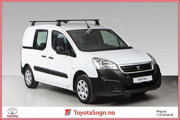 Peugeot Partner 1,6 BLueHDI 75hk L1 Edition  2016, 9937 km, kr 149000,-