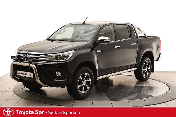 Toyota HiLux D-4D 150hk D-Cab 4WD SR+ aut skinnseter og veltebøyle  2018, 12500 km, kr 449000,-