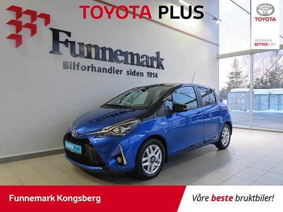 Toyota Yaris 1,5 Hybrid Bi Tone Blue e-CVT aut Lav Km  2018, 5710 km, kr 229900,-