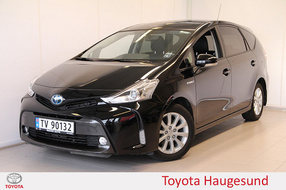 Toyota Prius+ Seven 1,8 VVT-i Hybrid Executive Skyview Skinn, ad. cruise ++  2016, 40361 km, kr 299000,-