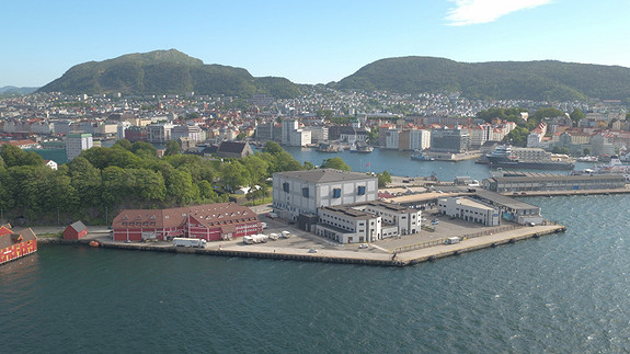 Skuteviksboder ligger flott og skjermet, plassert uten gjenboere sentralt i Bergen.
