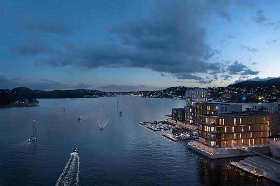 Bryggebyen Vindholmen - Salget er i gang - 82 leiligheter med sjøutsikt