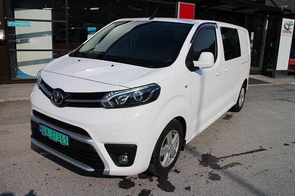 Toyota Proace Comfort, 116 hk, ryggekamera, 2 skyvedører, DAB,  2018, 7700 km, kr 298000,-