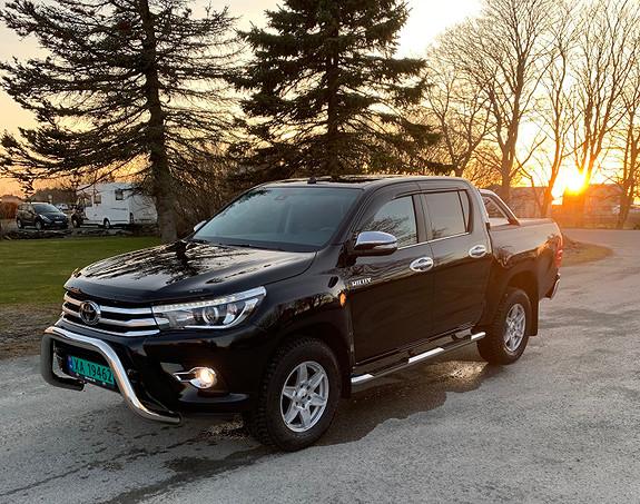 Toyota HiLux 2,4 Dobb.cab  2017, 22054 km, kr 419900,-