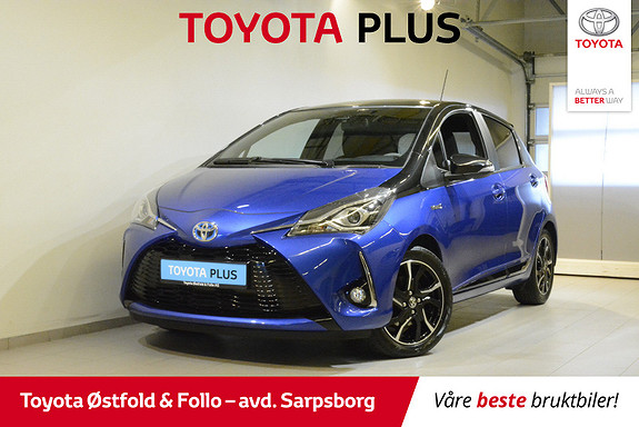 Toyota Yaris 1,5 Hybrid Bi Tone e-CVT aut  2017, 10200 km, kr 198000,-