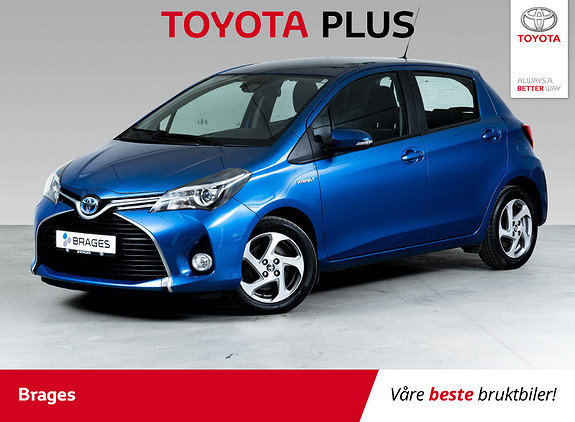 Toyota Yaris 1,5 Hybrid Active S e-CVT Electric Blue  2016, 37500 km, kr 169000,-
