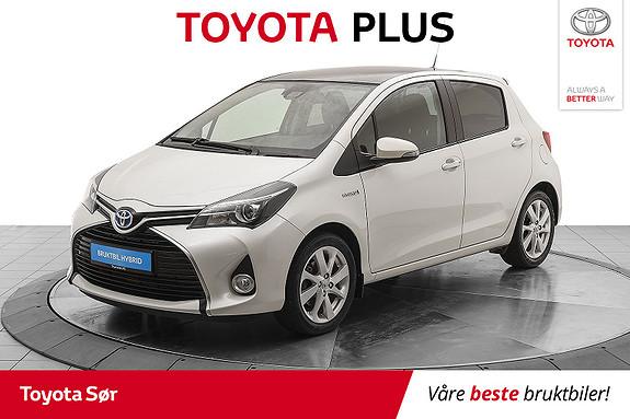 Toyota Yaris 1,5 Hybrid Style e-CVT aut m/panoramatak  2016, 28000 km, kr 189000,-