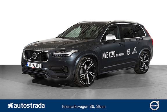 "Volvo XC90 T8 390hk AWD R-design B&W/HeadUP/Panorama/H.feste/22""  2019, 12000 km, kr 969000,-"