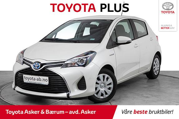 Toyota Yaris 1,5 Hybrid Active S e-CVT LAV KM  2016, 19900 km, kr 173000,-