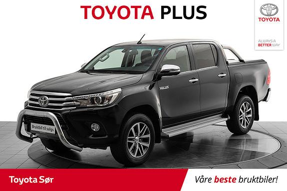 Toyota HiLux D-4D 150hk D-Cab 4WD SR+ aut m/mye ekstrautstyr  2016, 52000 km, kr 369000,-
