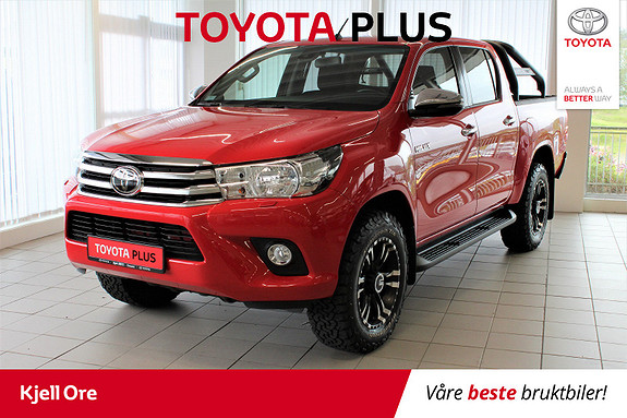 Toyota HiLux D-4D 150hk D-Cab 4WD SR Toyota Pluss! Tectyl, H.feste +  2018, 14926 km, kr 369000,-