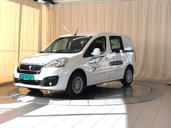 Peugeot Partner Mester 1,6 BlueHDi 100hk  L1  2017, 23000 km, kr 169000,-