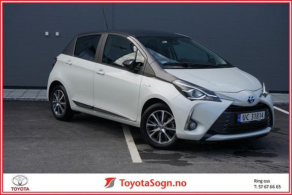 Toyota Yaris 1,5 Hybrid Y20+ Bi-Tone e-CVT aut  2019, 5000 km, kr 259000,-