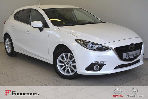 Mazda 3 2,2D 150hk Optimum aut Navi. Keyless, Bose, Service,  2015, 49300 km, kr 169000,-