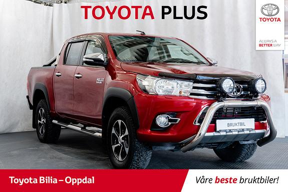 Toyota HiLux D-4D 150hk D-Cab 4WD SR aut ,hengerfeste, DAB+  2017, 23639 km, kr 397000,-