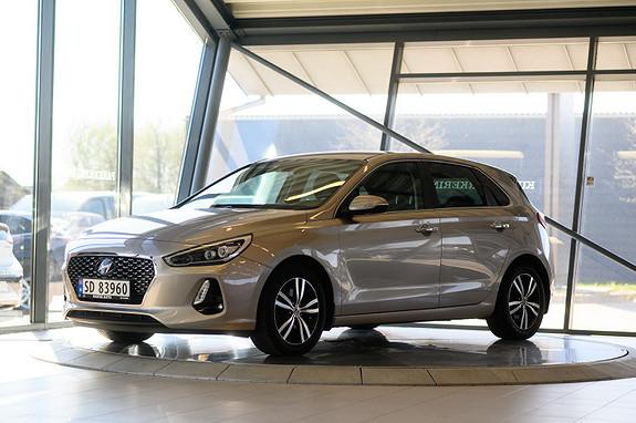 Hyundai i30 1,4 T-GDi Teknikkpakke aut **KR 2490,- 0 EGENKAPITAL**  2017, 32023 km, kr 249900,-