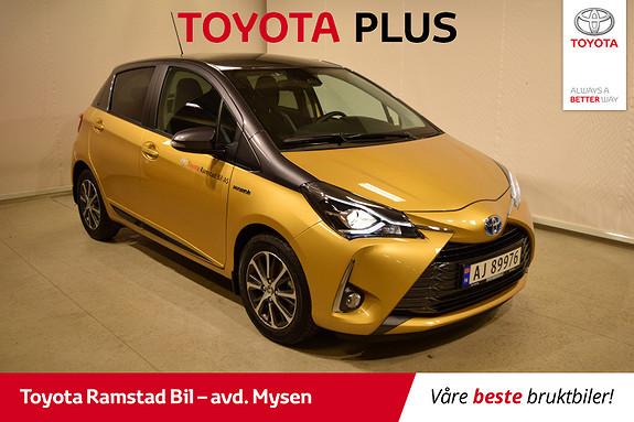 Toyota Yaris 1,5 Hybrid Y20+ Bi-Tone e-CVT aut  2019, 3000 km, kr 235000,-