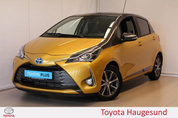 Toyota Yaris 1,5 Hybrid Y20+ Bi-Tone e-CVT aut  2019, 2933 km, kr 235000,-