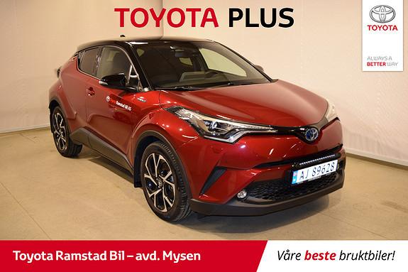 Toyota C-HR 1,8i Hybrid Lounge Tech Bi-tone  2019, 7500 km, kr 355000,-