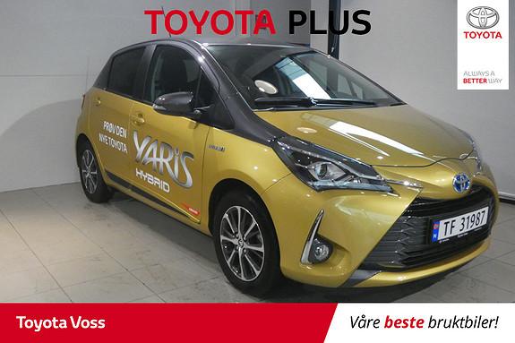 Toyota Yaris 1,5 Hybrid Y20+ Bi-Tone e-CVT aut DEMOBIL! LÅG KM.STAND  2019, 5900 km, kr 234000,-