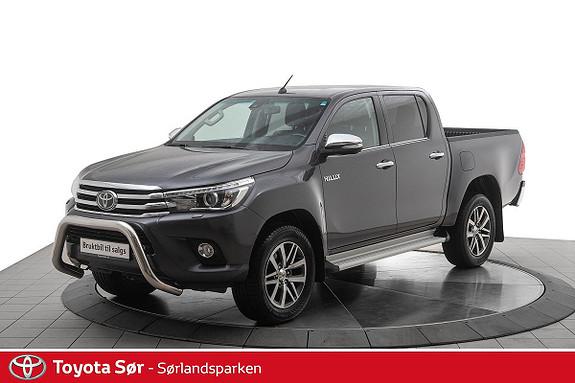 Toyota HiLux D-4D 150hk D-Cab 4WD SR+ aut  2018, 62100 km, kr 399000,-